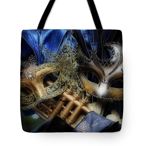 Masked Twins Tote Bag