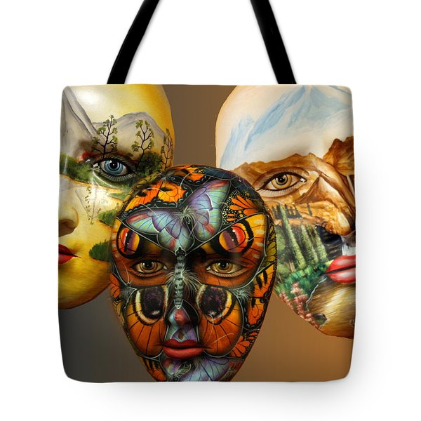 Masks On The Wall Tote Bag