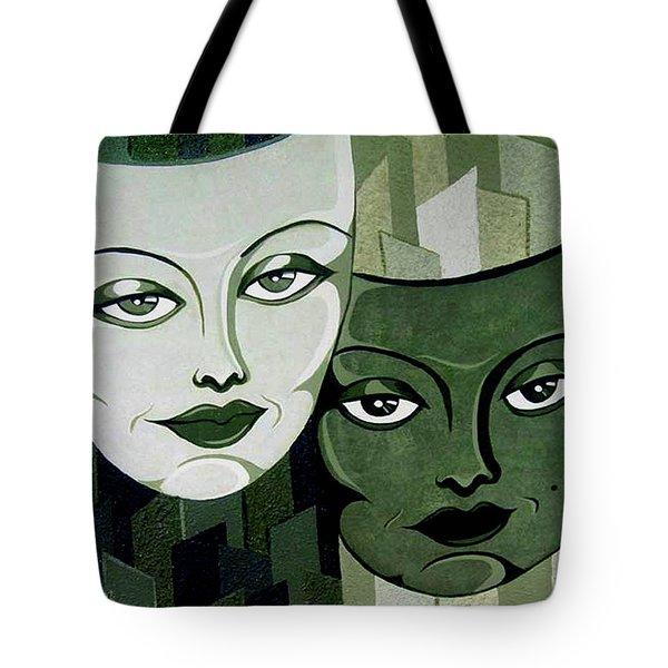 Masks Verde Tote Bag
