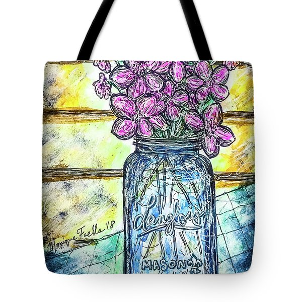 Mason Jar Bouquet Tote Bag