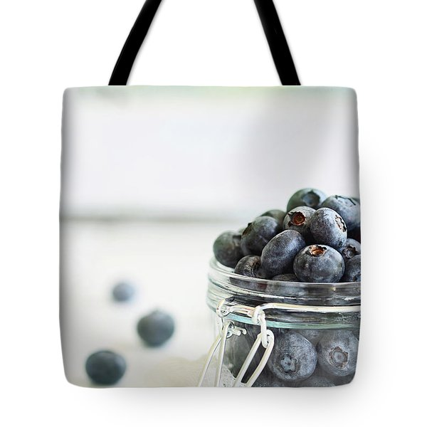 Mason Jar Full Of Blueberries Tote Bag