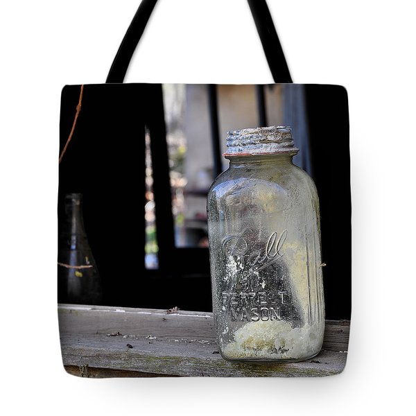 Mason Jar Tote Bag by Todd Hostetter