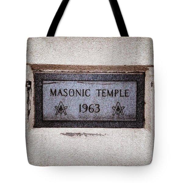 Masonic Temple Tote Bag
