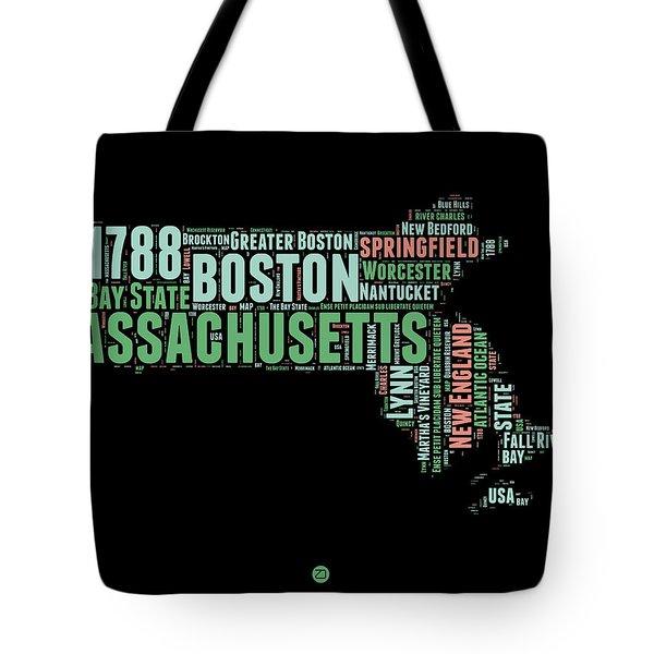 Massachusetts Word Cloud Map 1 Tote Bag