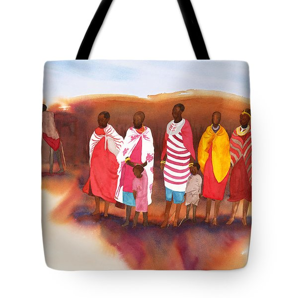 Massai Mommas Tote Bag by Tara Moorman