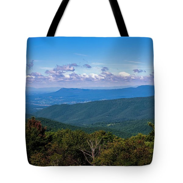 Tote Bag featuring the photograph Massanutten by Penny Lisowski