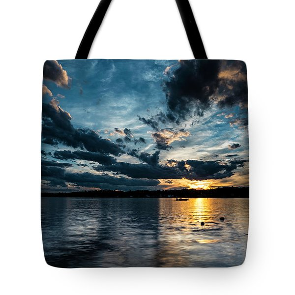 Masscupic Lake Sunset Tote Bag