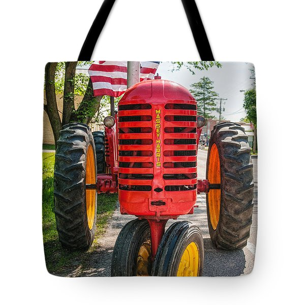 Massey Harris And Old Glory Tote Bag