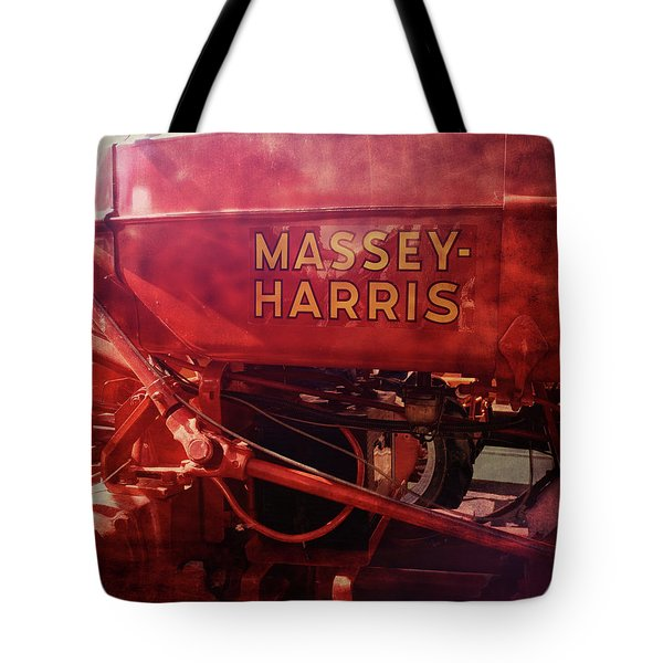 Tote Bag featuring the photograph Massey Harris Vintage Tractor by Ann Powell