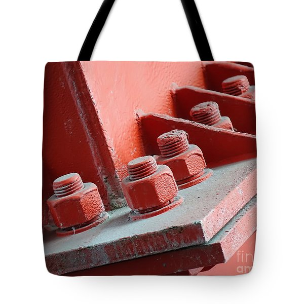 Tote Bag featuring the photograph Massive Bolts And Nuts by Yali Shi