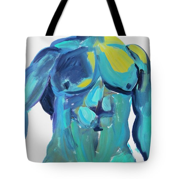 Massive Hunk Blue-green Tote Bag