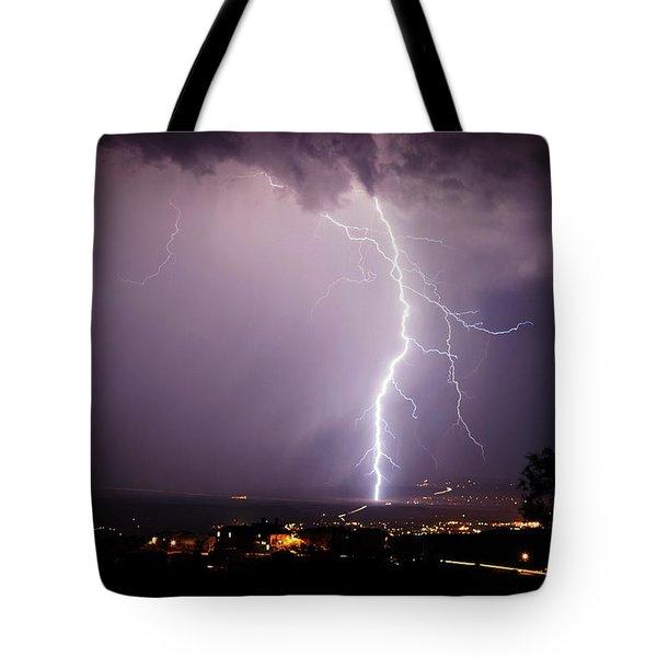 Massive Lightning Storm Tote Bag