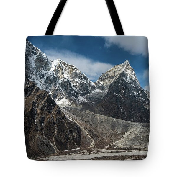Tote Bag featuring the photograph Massive Tabuche Peak Nepal by Mike Reid
