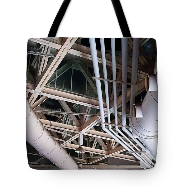 Tote Bag featuring the photograph Massive Ventilation Pipes by Yali Shi