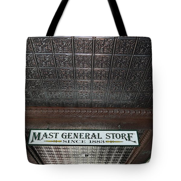 Tote Bag featuring the photograph Mast General Store II by Skip Willits