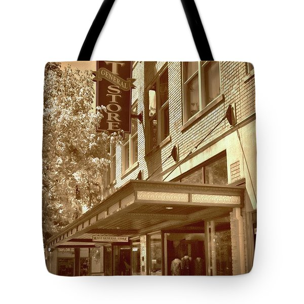 Tote Bag featuring the photograph Mast General Store by Skip Willits