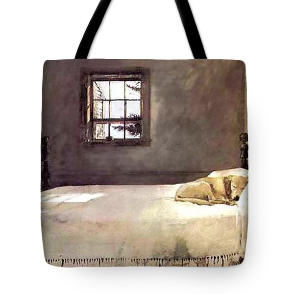 Master Bedroom  Tote Bag by Andrew Wyeth