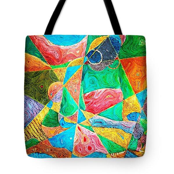 Mat Weaver Tote Bag by Bankole Abe