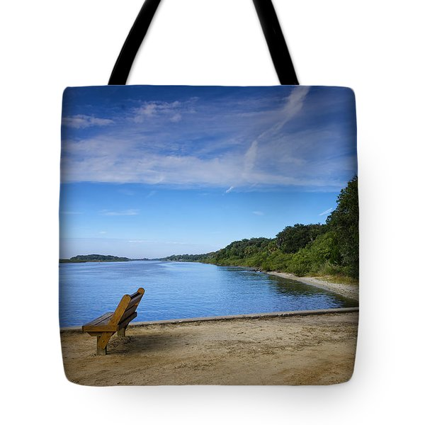 Tote Bag featuring the photograph Blue River by Claire Turner