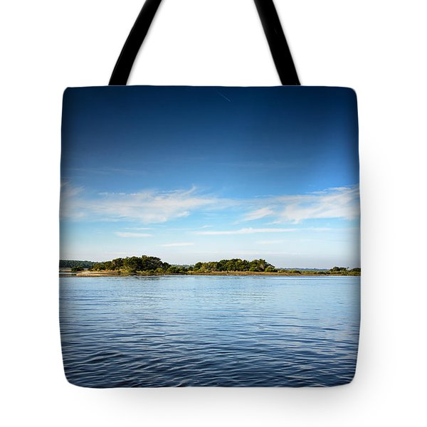 Tote Bag featuring the photograph Blue River Inlet  by Claire Turner
