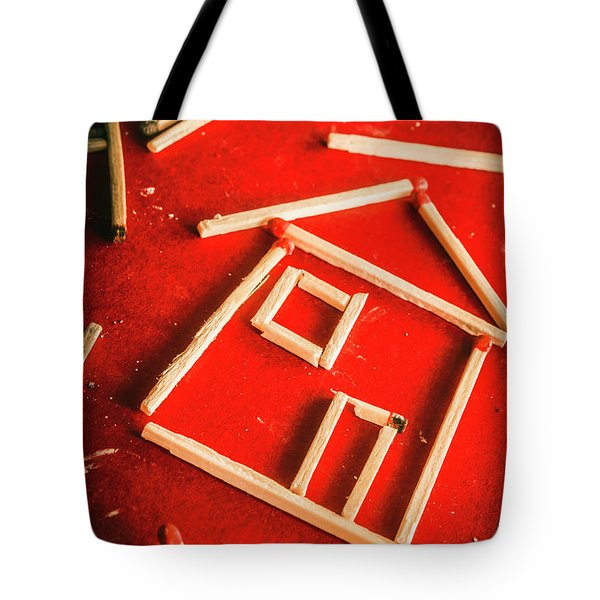 Matchstick Houses Tote Bag