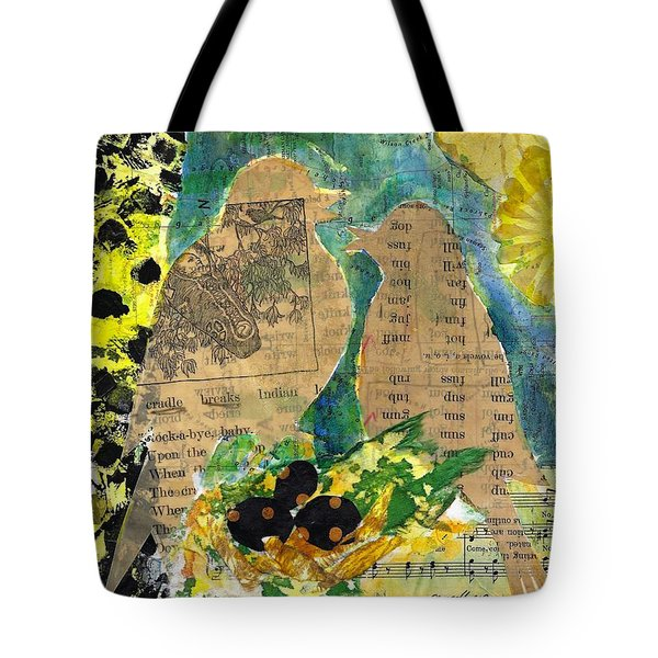 Tote Bag featuring the mixed media Mater And Pater by Jillian Goldberg