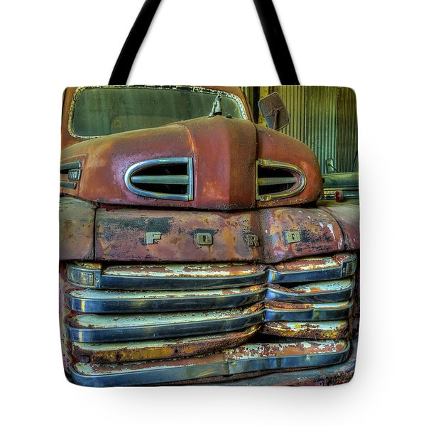 Tote Bag featuring the photograph Mater From Cars by Jerry Gammon