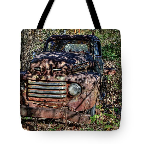 Tote Bag featuring the photograph Mater Two From Car Story by Jerry Gammon