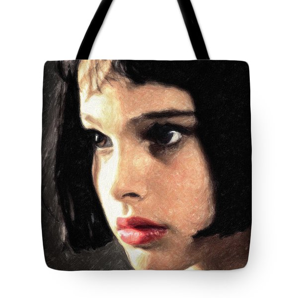 Tote Bag featuring the painting Mathilda by Taylan Apukovska