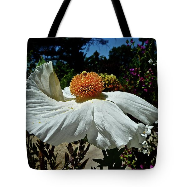 Matilija Poppy Two Tote Bag