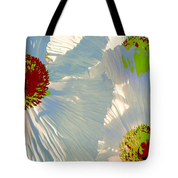 Tote Bag featuring the photograph Matilija Poppies Pop Art by Ben and Raisa Gertsberg