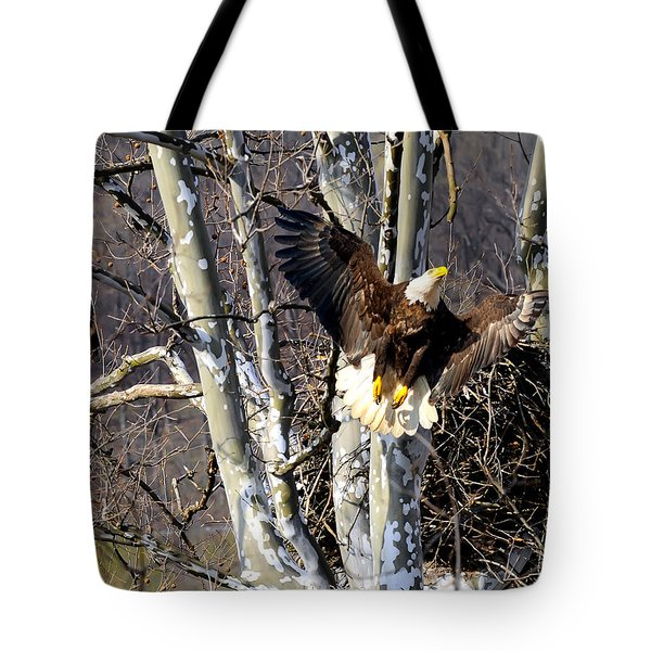 Mating Pair At Nest Tote Bag
