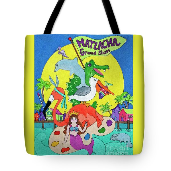 Tote Bag featuring the painting Matlacha Grand Slam by Rosemary Aubut