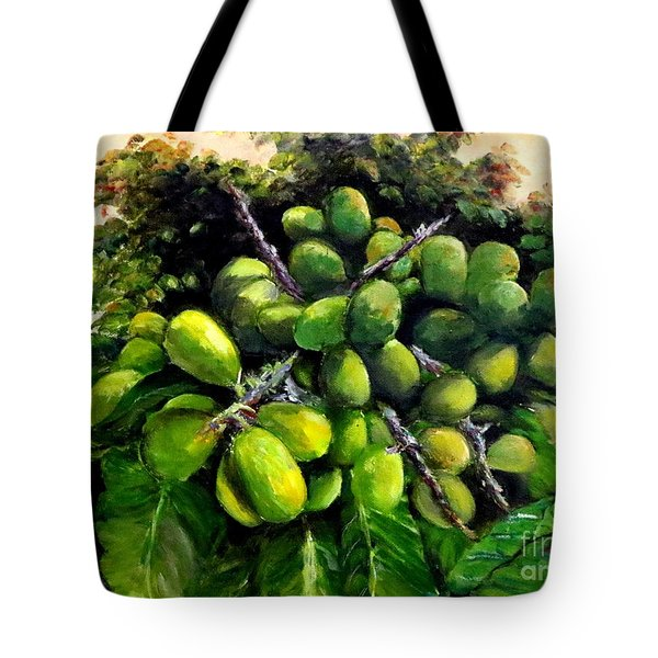 Tote Bag featuring the painting Matoa Fruit by Jason Sentuf