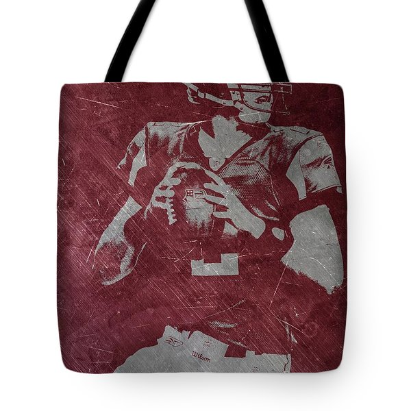 Matt Ryan Atlanta Falcons Tote Bag by Joe Hamilton