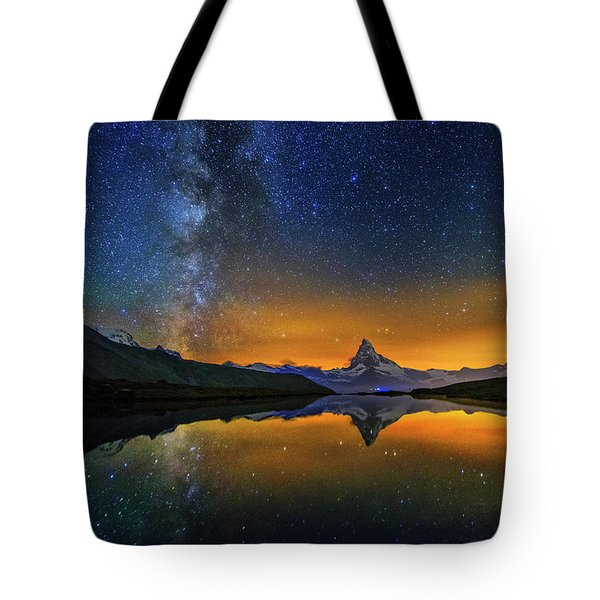 Matterhorn By Night Tote Bag