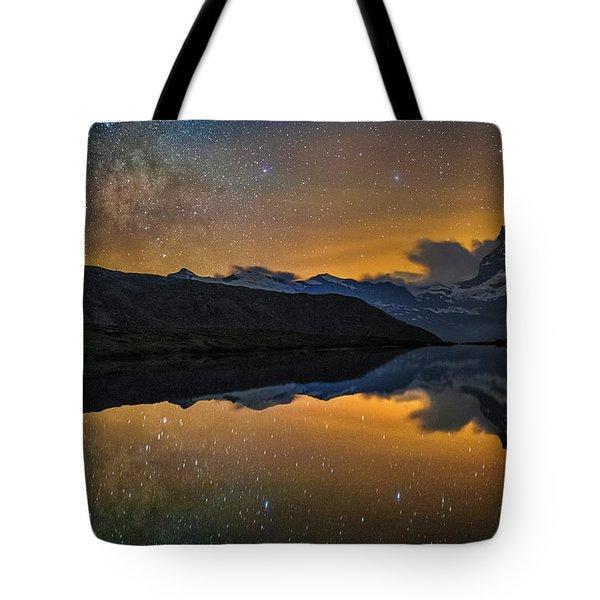 Matterhorn Milky Way Reflection Tote Bag
