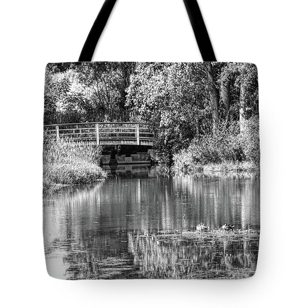 Matthaei Botanical Gardens Black And White Tote Bag
