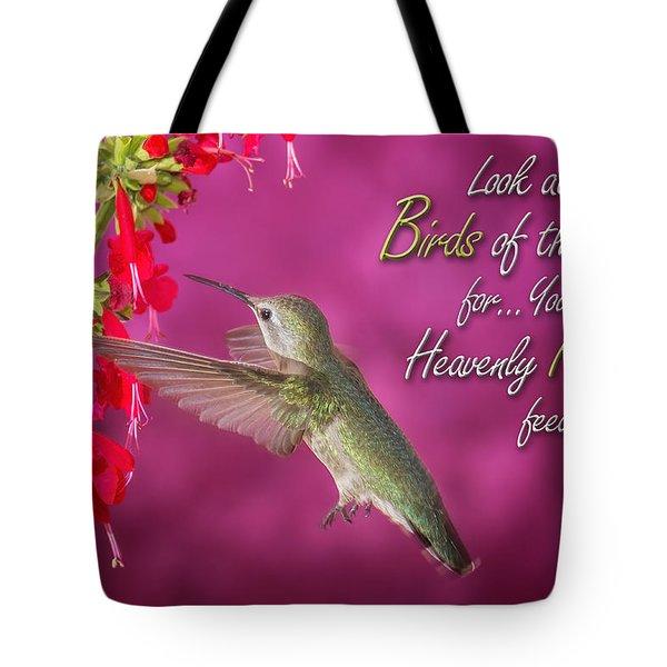 Matthew 6 26 Tote Bag