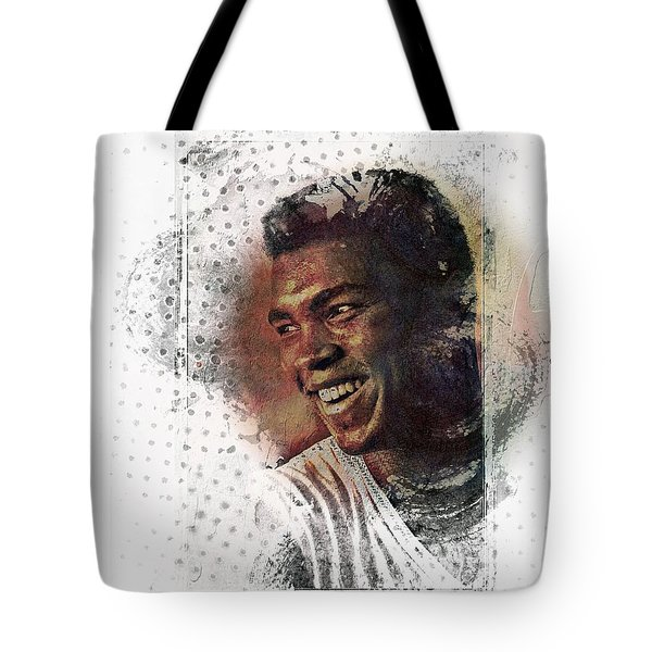 Tote Bag featuring the photograph Mauhammad Ali by Allen Beilschmidt