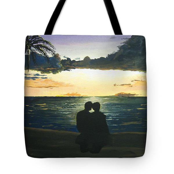 Maui Beach Sunset Tote Bag by Norm Starks