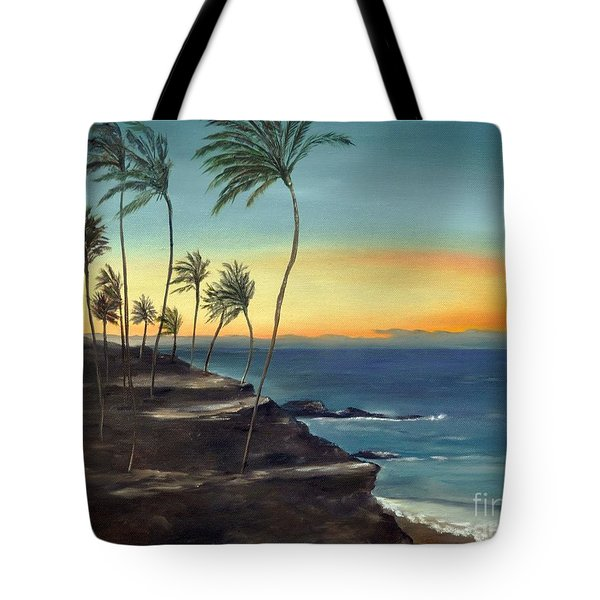Tote Bag featuring the painting Maui by Carol Sweetwood
