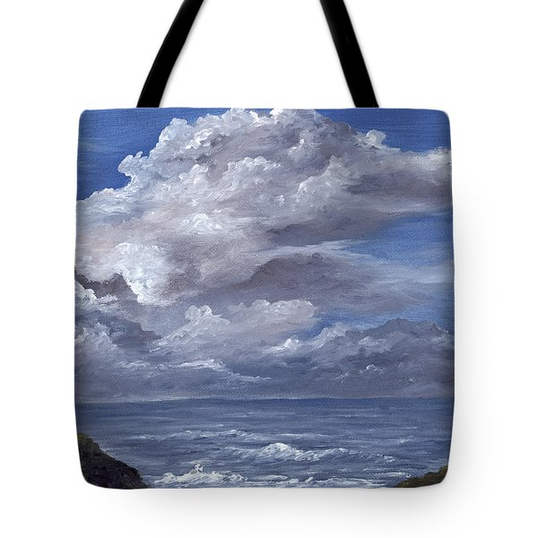 Tote Bag featuring the painting Maui Clouds by Darice Machel McGuire