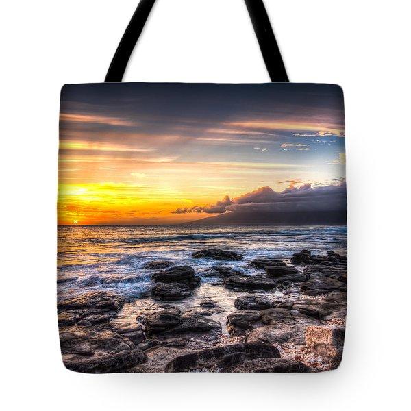 Maui Coral Sun Tote Bag