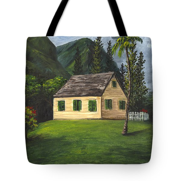 Tote Bag featuring the painting Maui Nature Center by Darice Machel McGuire