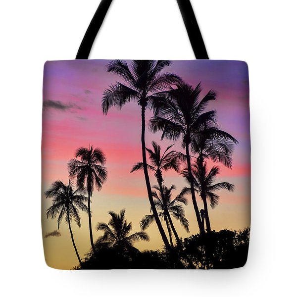 Maui Palm Tree Silhouettes Tote Bag