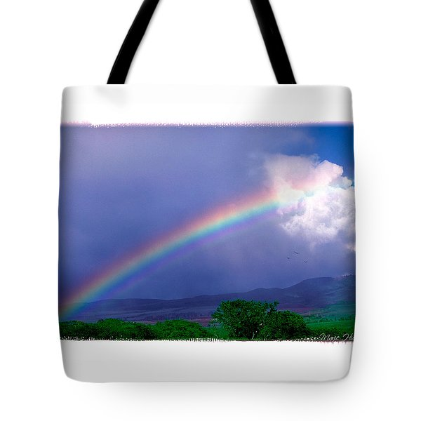 Tote Bag featuring the photograph Maui Rainbow by Marie Hicks