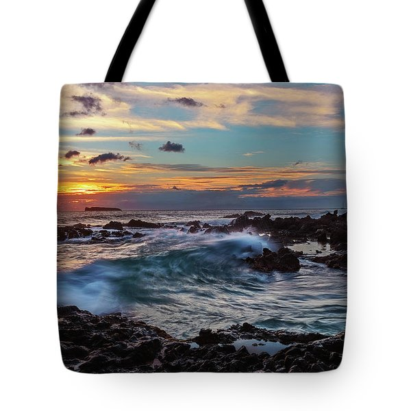 Tote Bag featuring the photograph Maui Sunset At Secret Beach by John Hight