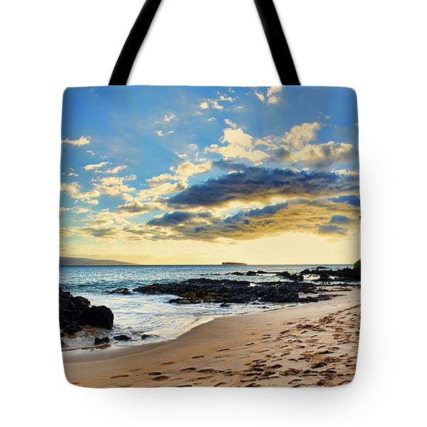Maui Sunset Panorama Tote Bag