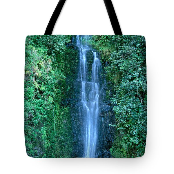 Maui Waterfall Tote Bag by Bill Brennan - Printscapes